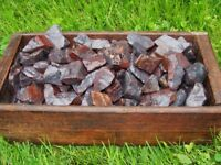 1000 Carat Lots of Unsearched Natural Hematite Rough + a FREE Faceted Gemstone