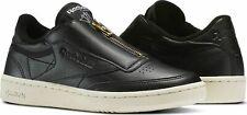 uk size 7.5 - reebok classic club c 85 zip unisex trainers - black - bs6608