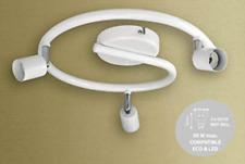 3  Way Round Spiral G Type Spotlight Bar with Adjustable Head GU10 in White