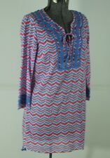 Vineyard Vines Whale Tail Chevron Cover Up Size XS Beach Pool Blue Pink Tunic