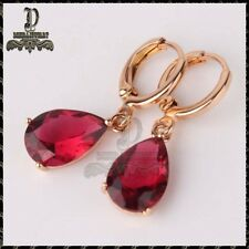 1ct Pear-Cut Ruby Diamond Delicated Stud Womens Earrings 14k Rose Gold Over
