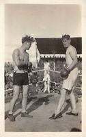 Two Real Photo Postcards Boxing Match WWI 25th Infantry 4th Calvary~127755