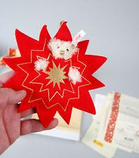 Steiff Christmas Ornament 2004 Teddy Bear in a Star White 10cm New in Box 037764