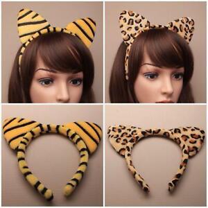 TIGER AND LEOPARD PRINT EARS HAIR ALICE HEADBAND