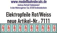 10 Spur 1 Elektropfeile 4,6 x 2,3 mm rot auf weißem Schild 032-7111