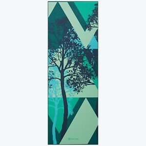Gaiam Premium Yoga Mat 6MM extra thick stabilizing grip-Timber Shadow Print- New