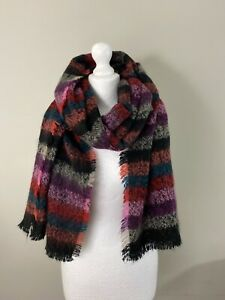 Anthropologie Cashmink Striped Woolie Scarf New