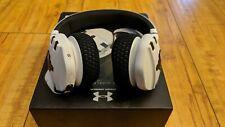 Under Armour Project Rock Edition Headphones Sport Wireless Train White Open Box