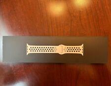 NIKE Sport Band 45mm For Apple Watch 7 SE 6 5- Pure Platinum/Black - Sealed