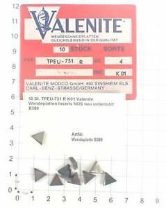 10 St. TPEU-731 R K01 Valenite Wendeplatten Inserts NOS neu unbenutzt B386