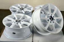 14x6 4x100 4x114.3 White Rims Fits Yaris Accord Mini Cooper Civic 4 Lug Wheelsw