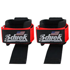 Schiek Sports Model 1000-DLS Deluxe Dowel Lifting Straps - Red