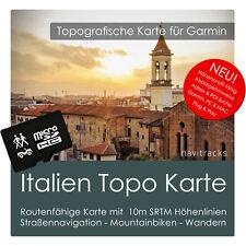 Italien Topo Karte 10m Höhenlinien 4GB microSD für Garmin Navi, PC & MAC