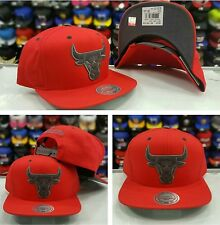 NBA Chicago Bulls Red Mitchell and Ness Snapback  Hat