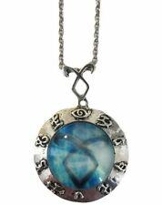 """Mortal Instruments Series Blue Angelic Power Rune Symbol Necklace with 20"""" Chain"""