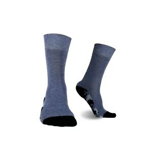 1SOCK2SOCK Men's Cotton Thin Crew Socks Camouflage Sole Blue Sock Size 7-11