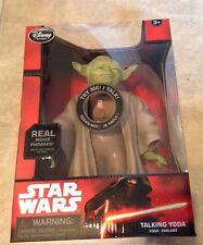 Talking Yoda Figure 10'' Star Wars The Force Awakens Disney Store Exclusive NEW