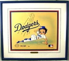 Betty Boop Cel Los Angeles Dodgers Signé Gregory Neyman Édition Numéro 1 Rare