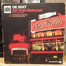 """[EDM]~EXC 12""""~DE NUIT~All That Mattered (Let You Down)~[x2 Remixes]~[GERMAN IMPO"""
