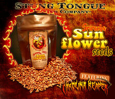 HOT Sriracha sunflower seeds made w/ Carolina Reaper.