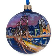 San Francisco, California Glass Ball Christmas Ornament