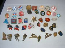 43 Vintage mixed lot of pins lapel tie-tacks
