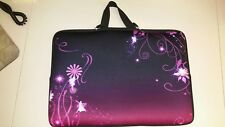 Black/Pink/Purple Laptop Case/Sleeve with Handle for laptop sizes 16-17 inches
