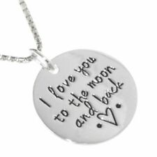 Sentimental Quote Sterling Silver Jewellery: 'I Love You To The Moon and Back...