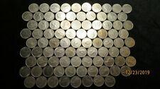 Eight-Nine(89) 1968-1974 Elizabeth II Canada 10 Cent Pieces