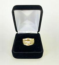 1.43ctw Princess Cut Diamond Wedding Set in 14k Yellow Gold
