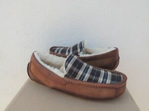 UGG ASCOT PENDLETON PLAID SHEEPWOOL SLIPPERS, MEN US 8/ EUR 41 ~FITS SMALL ~NEW