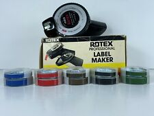 Vintage Rotex 480 Label Maker Dual Track 14 38 With10 Rolls Rotes Tape 2 Sizes