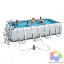 Escala de 488x274x122h RECTANGULAR marco piscina bomba BESTWAY 12227 y TOP
