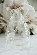 Honigtopf Honigglas Glasdose mit Deckel Marmeladenglas Shabby Chic