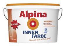 10 Liter Alpina Innenfarbe, universelle Wandfarbe, Weiß Matt, für ca. 60 m²
