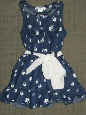 Guess Kids Toddler Girls Denim Jean Dress With Heart Locks Print Size 2T Sash