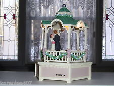 MUSIC BOX ENESCO GAZEBO  DANCING COUPLE TUNE TRUE LOVE COLLECTIBLE