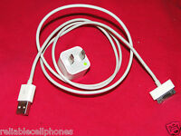 Genuine OEM Original Apple iphone 4 4s 3g iPod 3GS Wall Charger Usb Data Cable