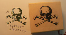 Skull and bones  rubber stamp WM P6