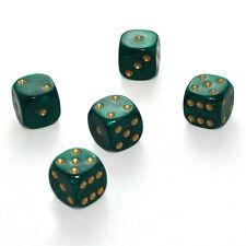 25 Stück 16mm Perlmutt Grün Knobel Würfel / Augen Würfel Spielwürfel von Frobis