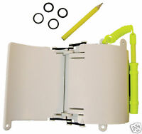 3-Page Wrist Writing Dive Slate with Pencil and O-rings Scuba Gear Accessory