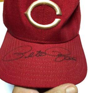 Pete Rose AUTO'D Cincinnati Reds New Era Red Hat Circa 1990/NEW