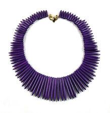 "Kenneth Jay Lane purple spike necklace 18.5"""
