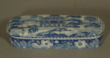 Very Fine Antique Blue Staffordshire Pen Holder, Early 19th century.