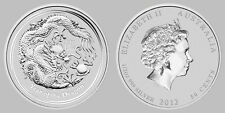 Australian Perth Mint Lunar 2012 Dragon Roll of 20 1/2 oz .999 Silver Series 2