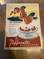 Vintage Menu Toffenetti Restaurant Times Square NY 1948