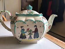 Antique Sadler Hand Painted Folk Art Tea Pot With Lid 1443 ON?
