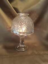 Party Lite Clear Glass Candle Lamp Tea Light Holder W Shade Victorian