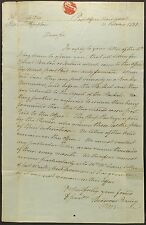 New York postmaster Theodorus Bailey1821 autograph letter re transatlantic mail