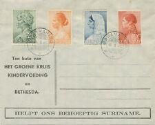 SURINAME 1940 Grünes Kreuz: Einheimische Frauen kpl. a. ill. unadress. Kab.-FDC